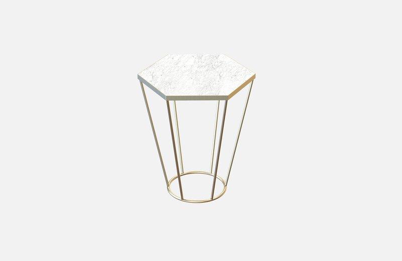 Sei coffee table brass with white marble miist treniq 3 1540474409694
