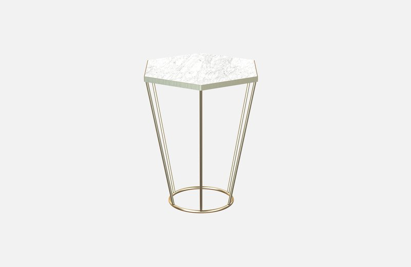 Sei coffee table brass with white marble miist treniq 3 1540474409693