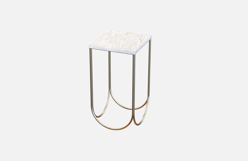 Otto side table brass with white marble miist treniq 3 1540475318755