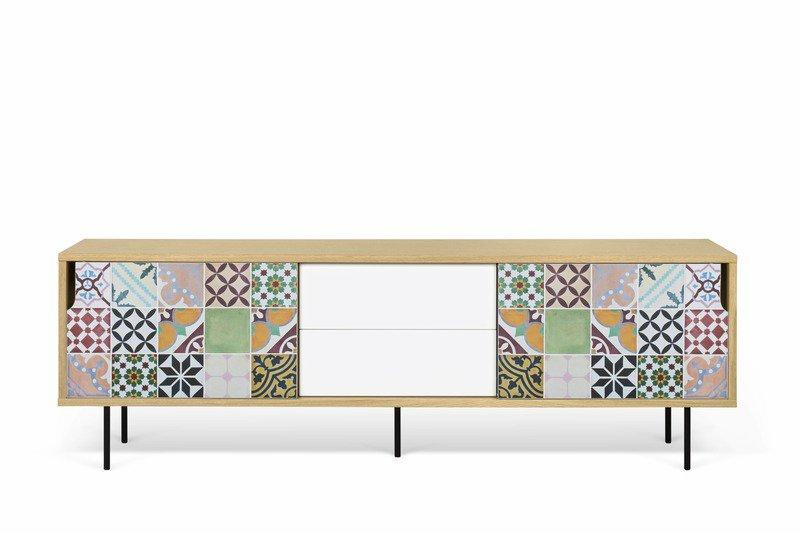 patchwork pattern and metallic legs temahome treniq 1 1540891729117