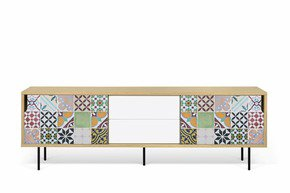 Dann-Tiles-Sideboard-201-W/-Patchwork-Pattern-And-Metalic-Legs_Tema-Home_Treniq_0