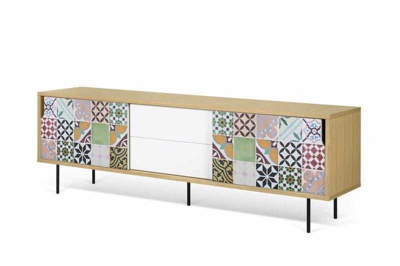 patchwork pattern and metallic legs temahome treniq 1 1540891729120