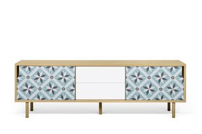 Dann-Tiles-Sideboard-201-W/-Star-Pattern-And-Wooden-Legs_Tema-Home_Treniq_0