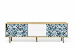 Dann-Tiles-Sideboard-201-W/-Petal-Pattern-And-Wooden-Legs_Tema-Home_Treniq_0
