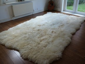 XL British Sheepskin Rug Natural 10 Skin