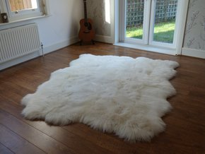 British Sheepskin Rug Natural 6 Skin