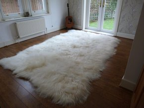 XL Icelandic Sheepskin Rug Natural 12 Skin