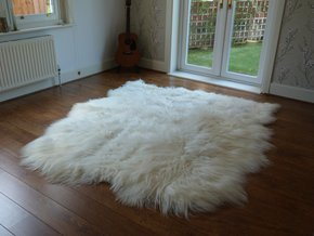 Icelandic Sheepskin Rug Natural 6 Skin