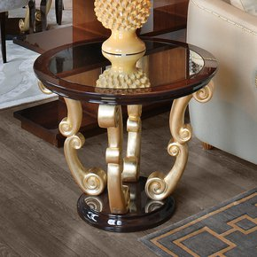 High End Italian Round Wenge Side Table