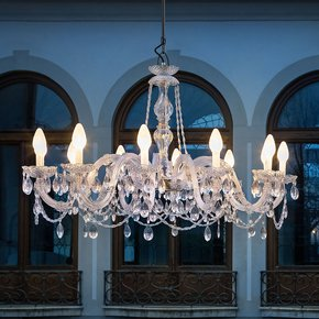 Outdoor Cut Crystal Chandelier