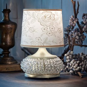 Small Glamorous Crystal Table Lamp