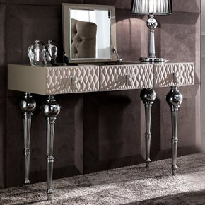 Luxury Nubuck Leather Dressing Table