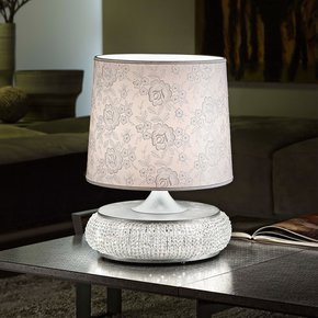 Glamorous Chrome Crystal Table Lamp