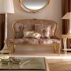 Venetian Style Gold Italian 2 Seater Sofa