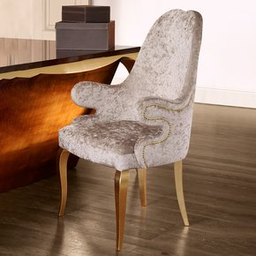 High End Italian Upholstered Carver Chair