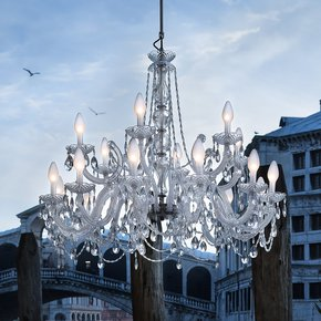Outdoor Crystal Glass Chandelier