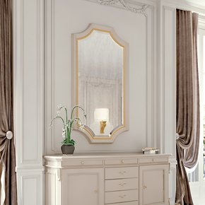 High End Modern Ivory Lacquered Mirror