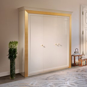 High End Modern Italian White Wardrobe