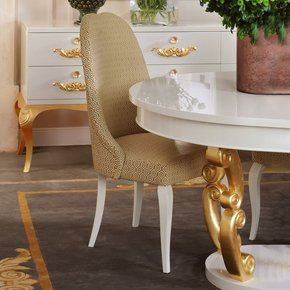 Modern Italian Gold Upholstered Dining Chair