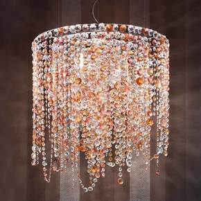 Multi Coloured Round Italian Chandelier