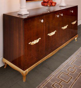High End Modern Glamour Wenge Sideboard