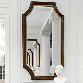 High End Modern Glamour Wenge Mirror