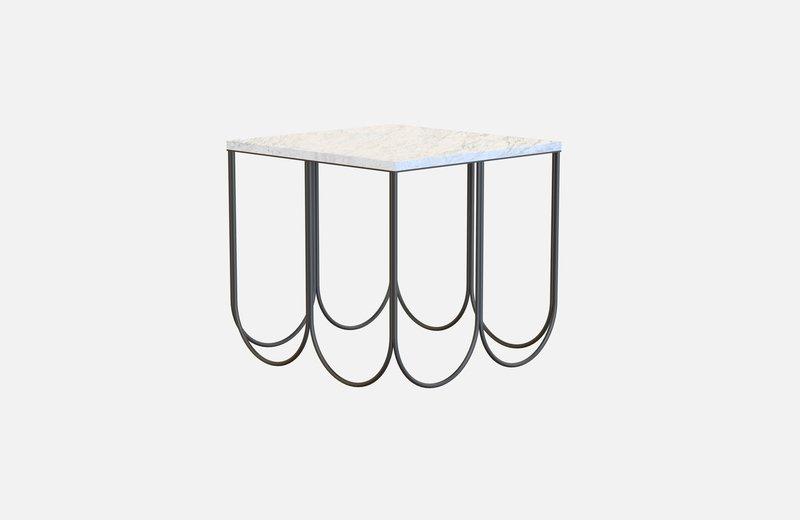 Otto coffee table black with white marble miist treniq 3 1541859632179