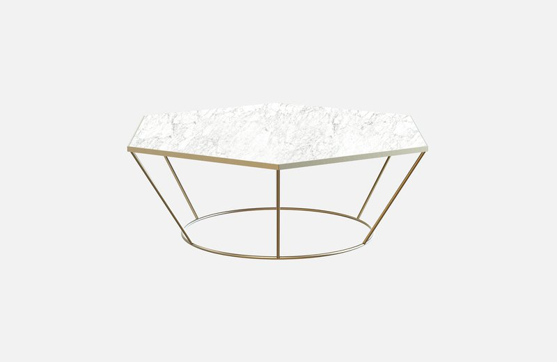 Sei middle table brass with white marble miist treniq 3 1541860131378