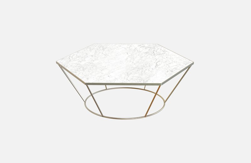 Sei middle table brass with white marble miist treniq 3 1541860131380