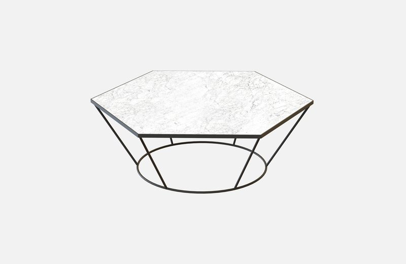 Sei middle table black with white marble miist treniq 3 1541860308601