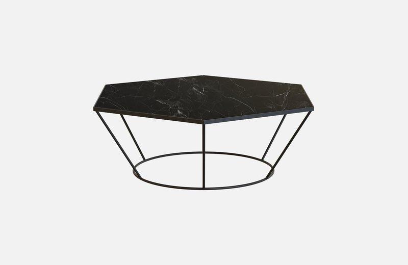 Sei middle table black with black marble miist treniq 3 1541860504881