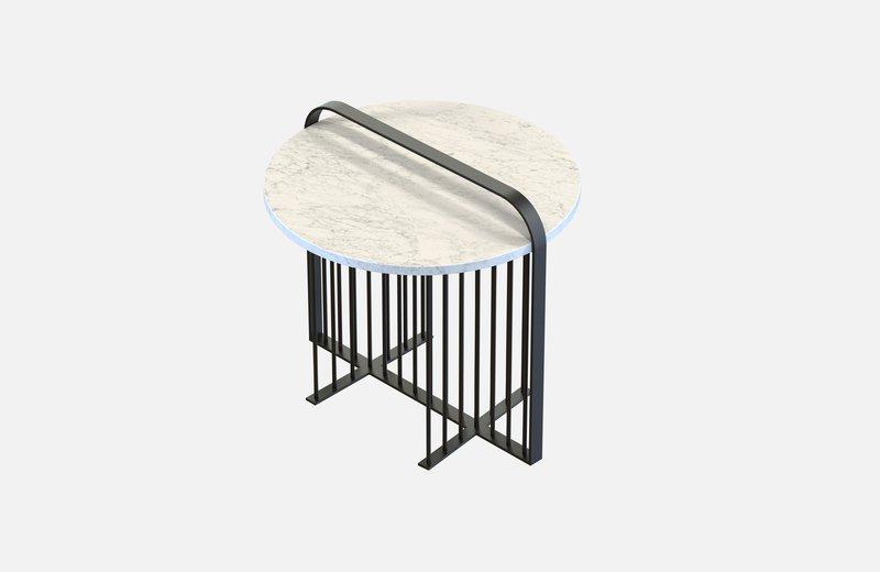 Meister coffee table black with white marble miist treniq 3 1541861878156