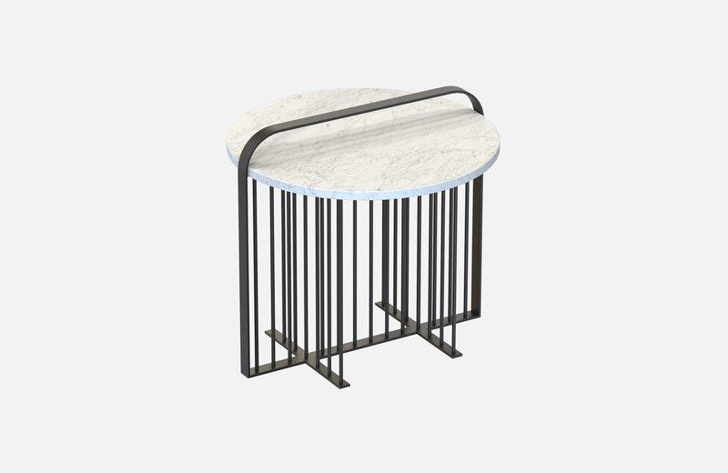 Meister coffee table black with white marble miist treniq 3 1541861878160
