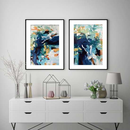 Large abstract art print set from original painting abstract house treniq 1 1542101807173