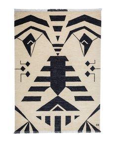 """""""Tribal-Black""""-Bespoke-Carpet-_Carpets-Cc_Treniq_0"""