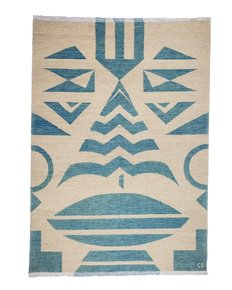 """""""Tribal-Blue""""-Bespoke-Carpet-_Carpets-Cc_Treniq_0"""