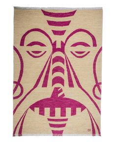 """Tribal-Pink""-Bespoke-Carpet-_Carpets-Cc_Treniq_0"