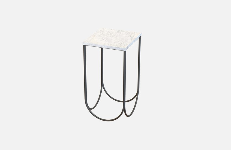 Otto side table black with white marble miist treniq 3 1542884117161
