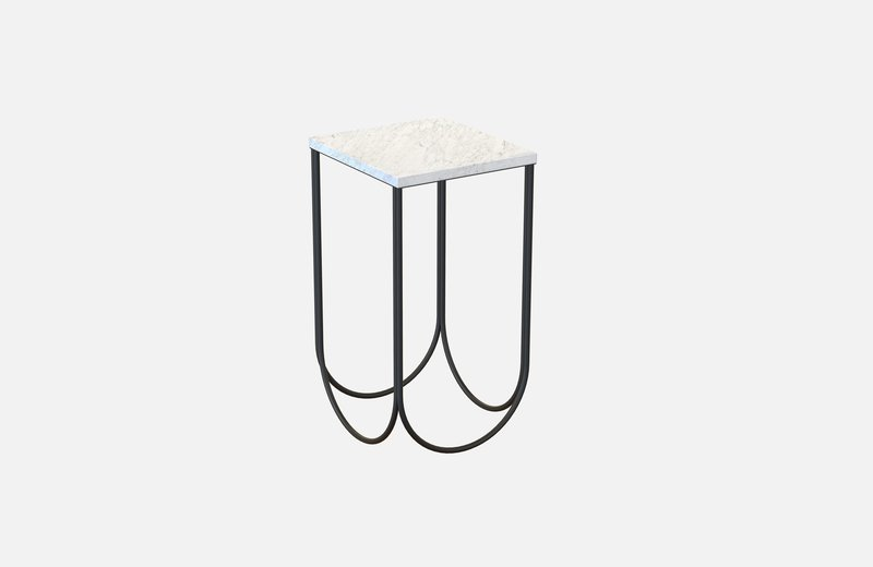 Otto side table black with white marble miist treniq 3 1542884117157