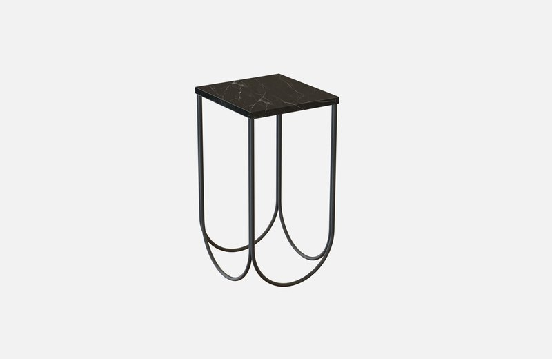Otto side table black with black marble miist treniq 3 1542884533289