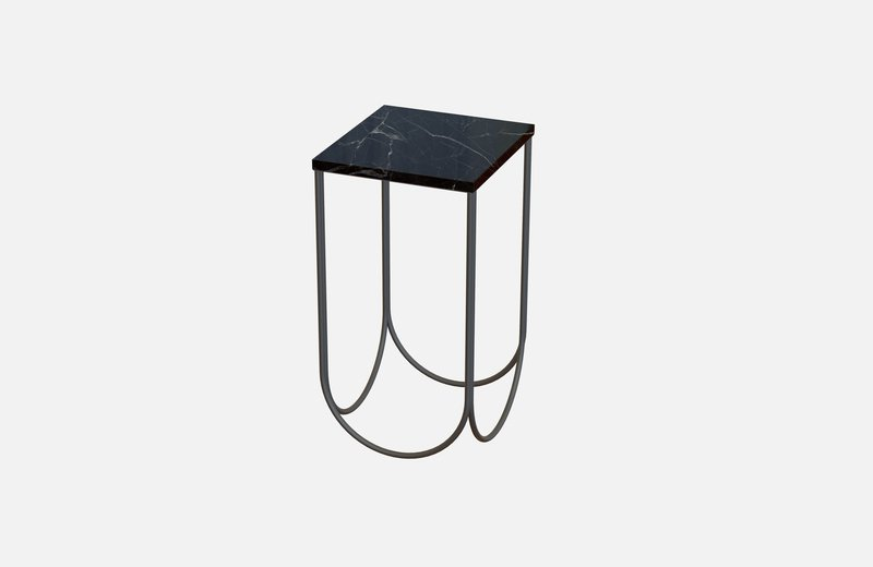 Otto side table black with black marble miist treniq 3 1542884533291