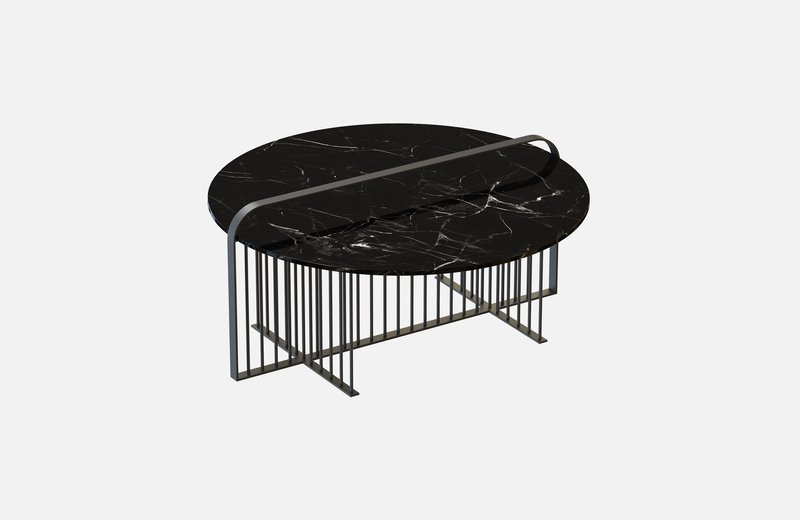 Meister coffee table black with black marble miist treniq 2 1542898990670
