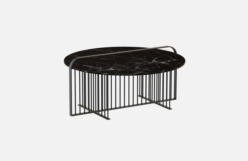 Meister coffee table black with black marble miist treniq 2 1542898990671