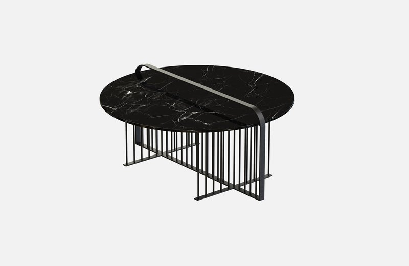 Meister coffee table black with black marble miist treniq 2 1542898990669