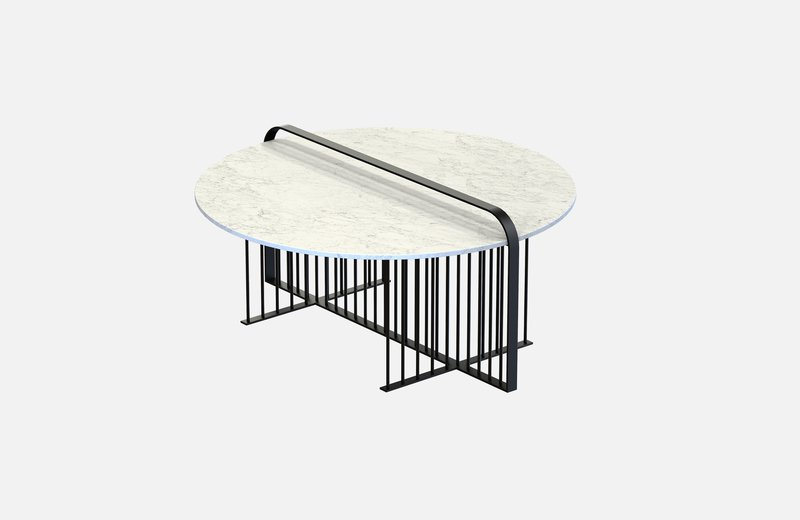 Meister coffee table black with white marble miist treniq 3 1542899250800