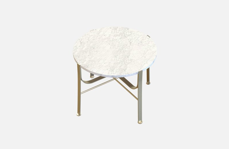 Merge coffee table brass with white marble miist treniq 3 1542899758769