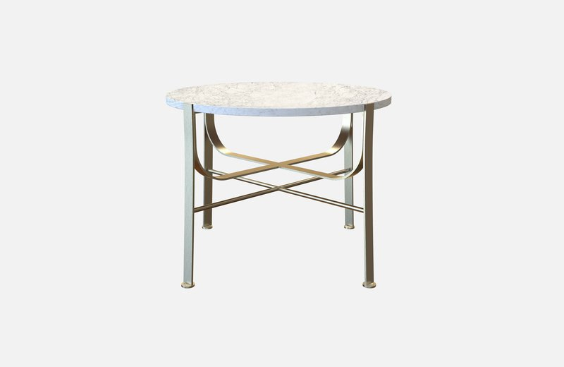 Merge coffee table brass with white marble miist treniq 3 1542899758767