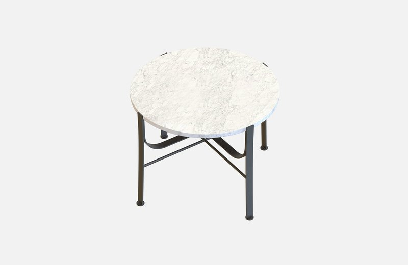 Merge coffee table black with white marble miist treniq 3 1542900212472