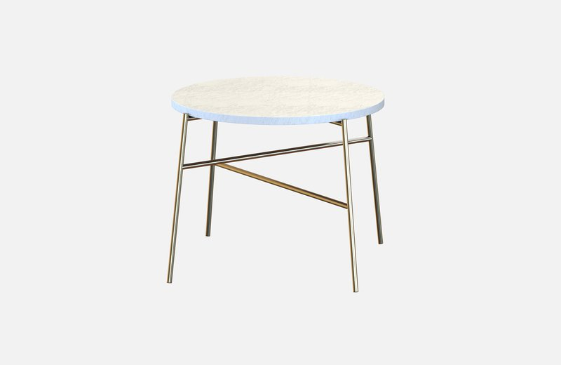 Hige coffee table brass with white marble miist treniq 3 1542900504178