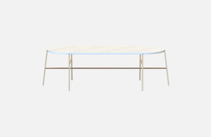 Hige middle table brass with white marble miist treniq 3 1542901003918